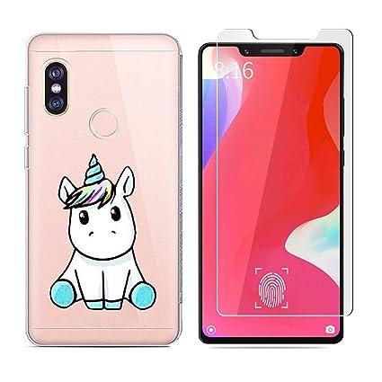 Funda XiaoMi Mi 8 Lindo Unicornio Suave TPU Silicona Anti ...