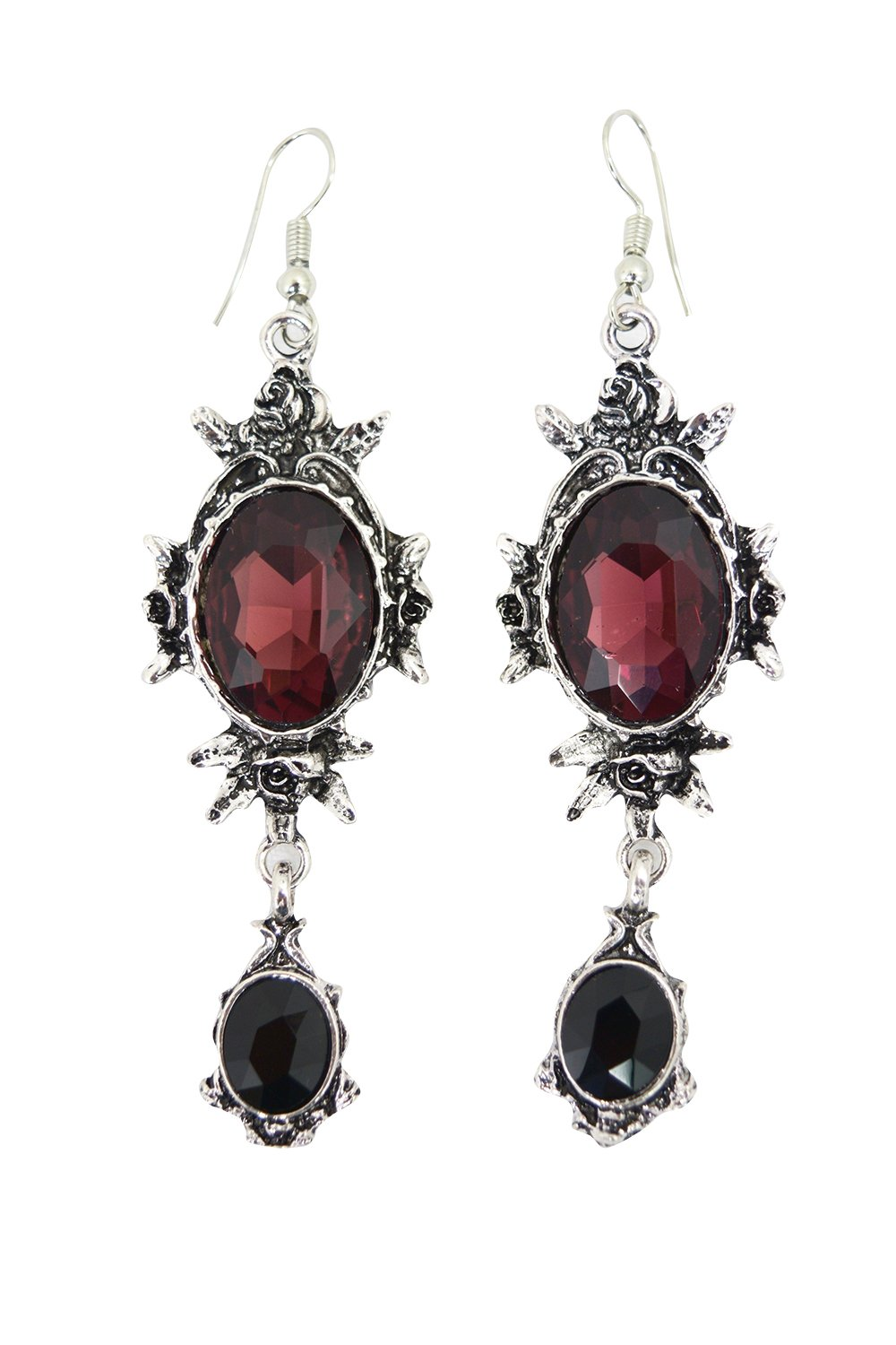 Restyle Wild Roses Gothic Romance Evening Statement Earrings