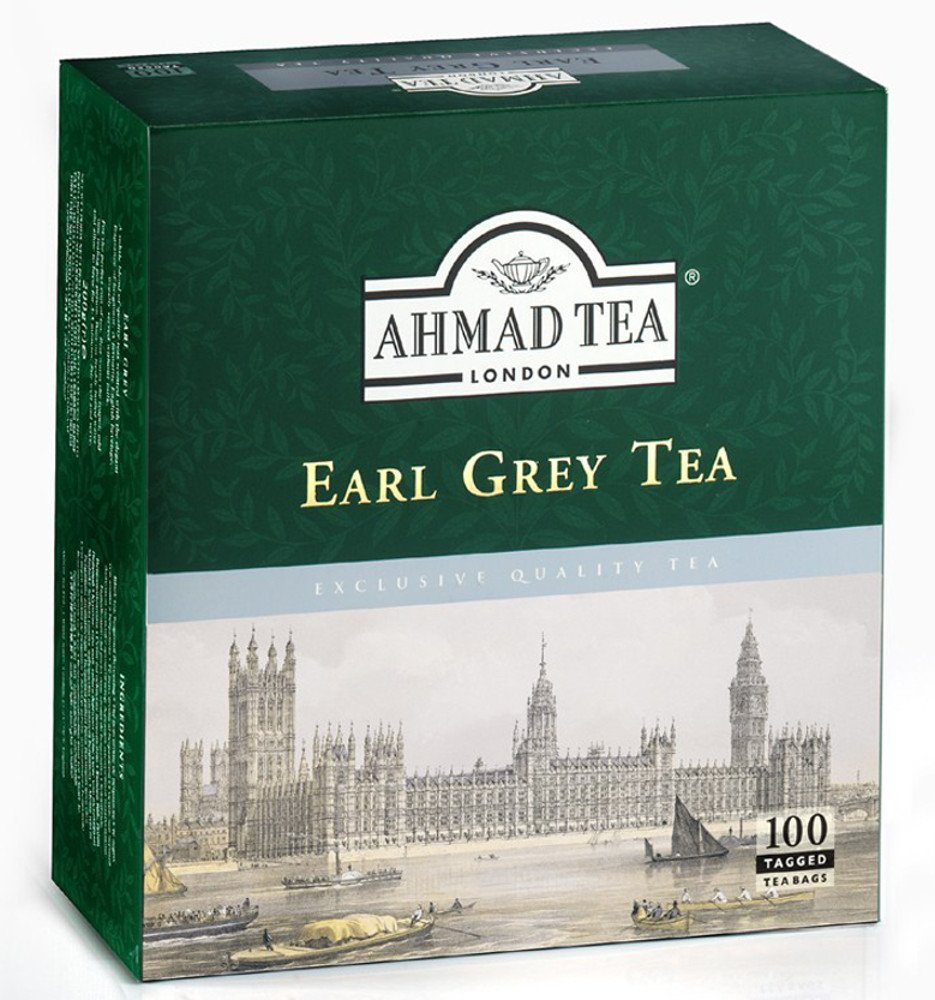 2 Boxes Ahmad Earl Grey Tea x 100 enveloped tea bags