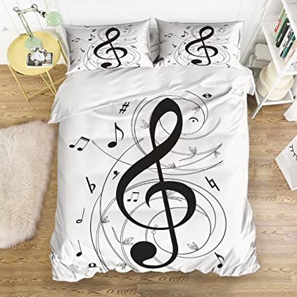 Juego de ropa de cama 4 piezas Nota Musical impreso ...