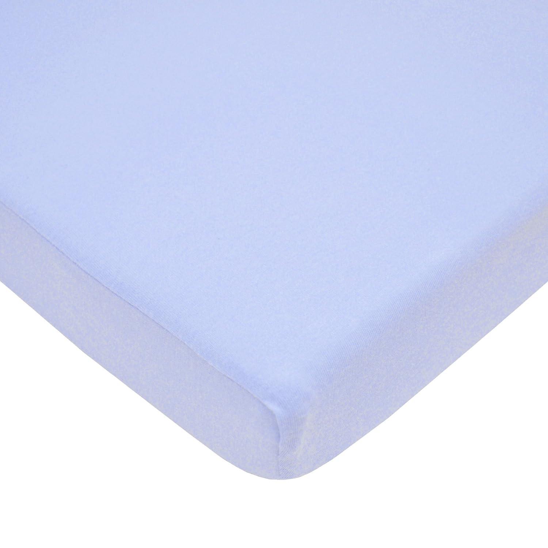 American Baby Company 3553-BL Value Jersey Knit Porta-Crib Sheet (Blue)