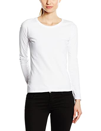 Fruit Of The Loom Ladies Lady-Fit Valueweight Long Sleeve T-Shirt ...