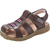 GAXmi Toddler Sandals for Boys Girls Little Kid Baby Closed Leather Fisherman Shoes