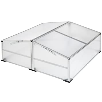 TecTake Invernadero de jardín aluminio jardinera de protección | resistente a la intemperie - varios modelos
