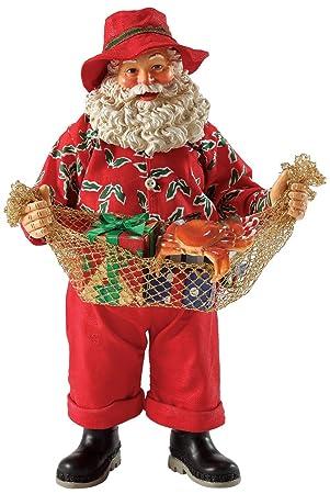 Department 56 Possible Dreams Merriest Catch Santa, 10 inch