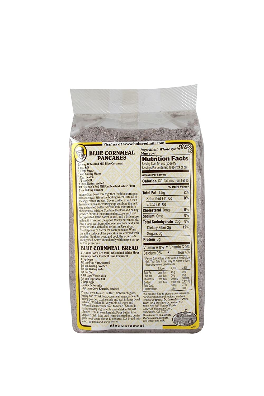 Amazon.com : Bobs Red Mill, Cornmeal Blue, 24 Ounce : Grocery & Gourmet Food