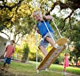 Sk8Swing The Original Skateboard Swing Handmade in the USA Perfect Replacement for Traditional Swing-set Swing or Tree Swing - Natural