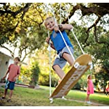Sk8Swing Skateboard Swing Perfect Replacement for Traditional Swing or Tree Swing (natural) (Regular, Natural)