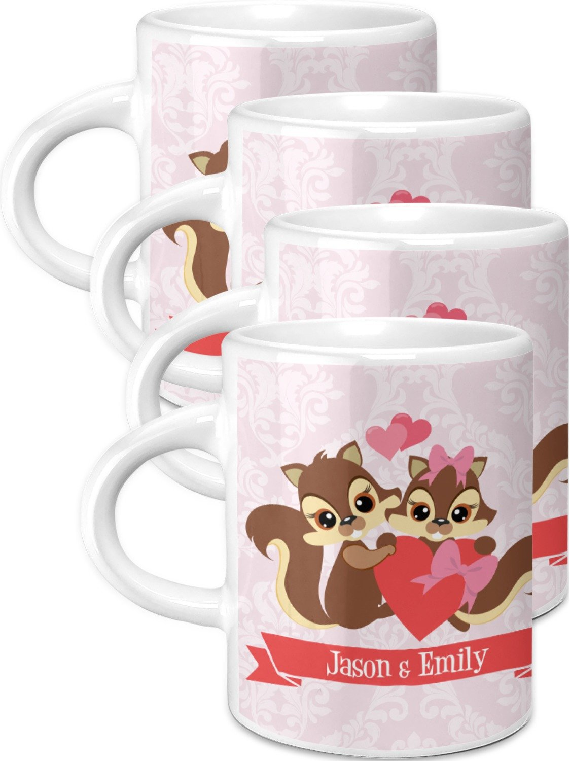 品質保証 Chipmunk CoupleエスプレッソMugs Personalized – セットof セットof 4 4 ( Personalized ) B07652DS9T, J-grows:d6a25ad9 --- a0267596.xsph.ru