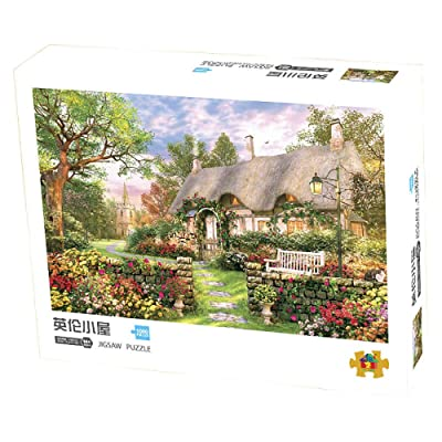 ANOVEL Puzzles for Adults Mini Jigsaw Puzzles 1000 Pieces England Cottage Puzzles: Toys & Games