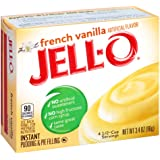 Jell-O Instant French Vanilla Pudding & Pie Filling (3.4 oz Boxes, Pack of 6)