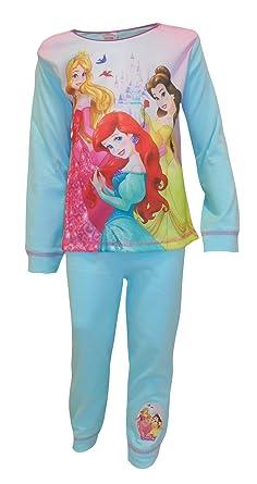 48d836d6e7 Girls Disney Princess Pyjamas Ariel Belle Aurora 18-24 Months 2 3 4 5  Years  Amazon.co.uk  Clothing
