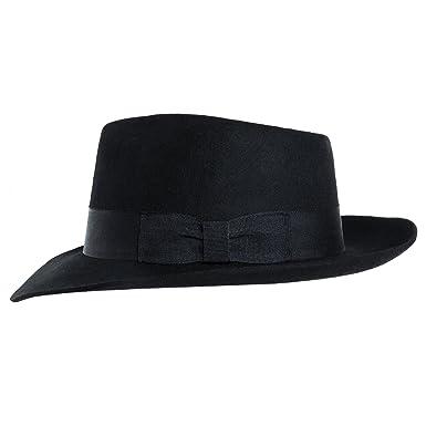 Amazon.com  MJB2C - Michael Jackson Hat - Fedoras - Black  Clothing da390c55bc6e