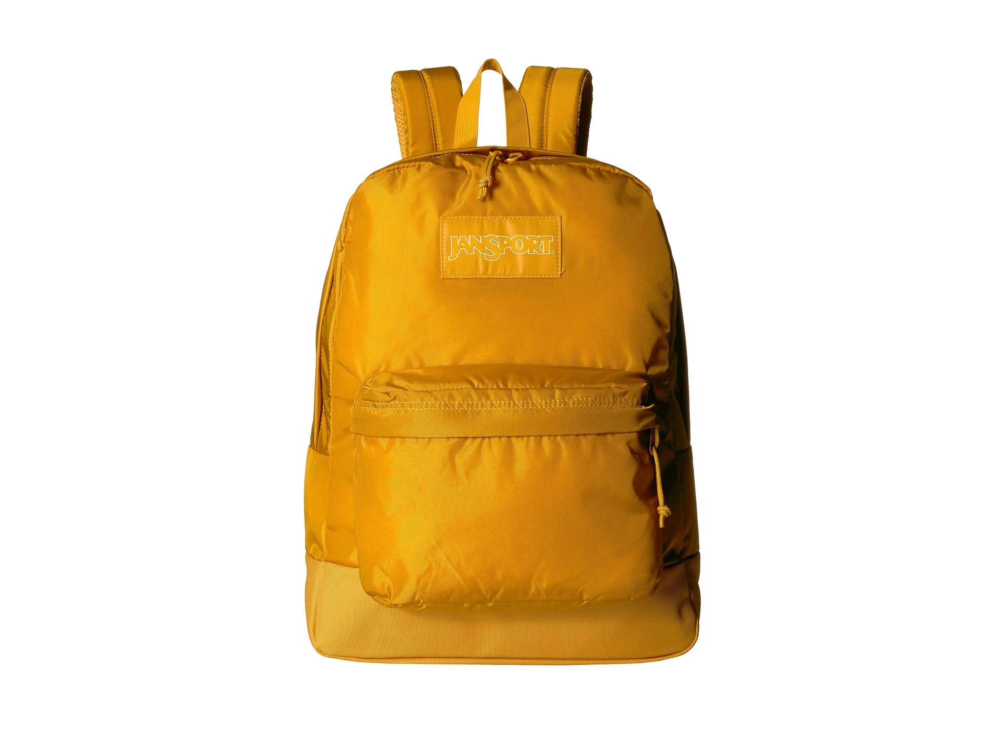 JanSport Mono Superbreak Backpack - Lightweight School Pack | English Mustard by JanSport