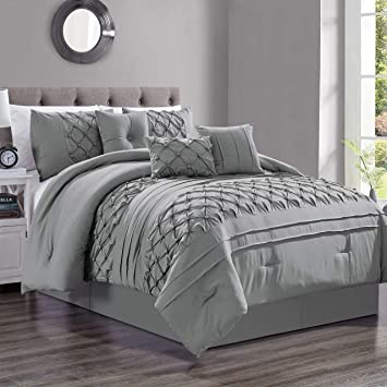Buy 7 Piece Casimir Gray Comforter Set King Online At Low Prices In India Amazon In