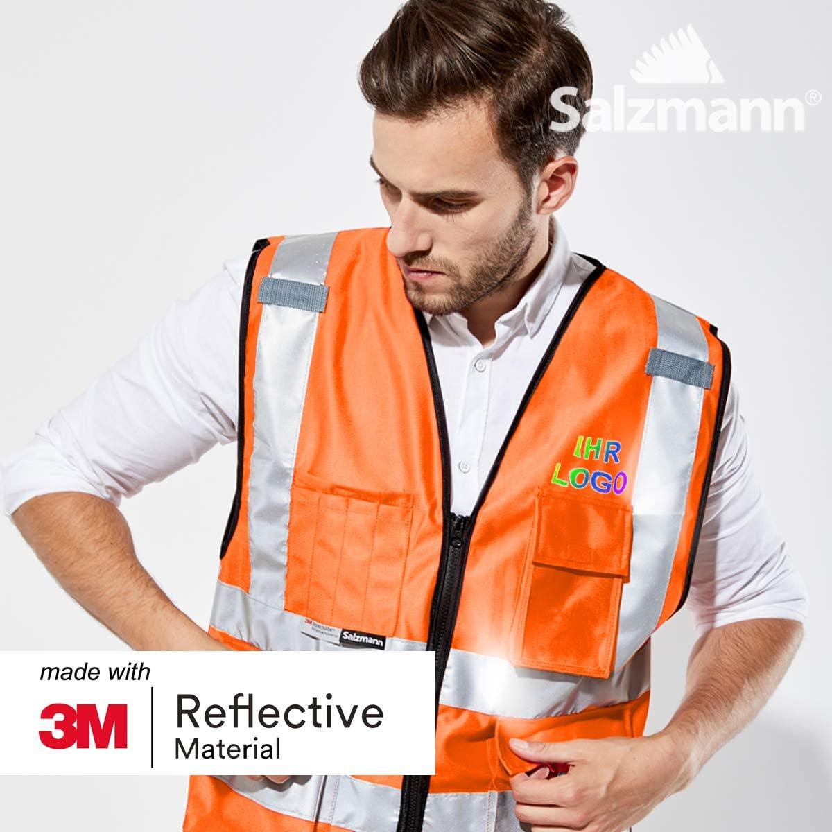 Realizzato con nastro riflettente 3M Salzmann 3M Gilet multi-tasche di sicurezza ad alta visibilit/á con logo individuale