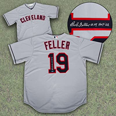 buy online 3c77e 56b5c Bob Feller Cleveland Indians Autographed Replica Retro ...