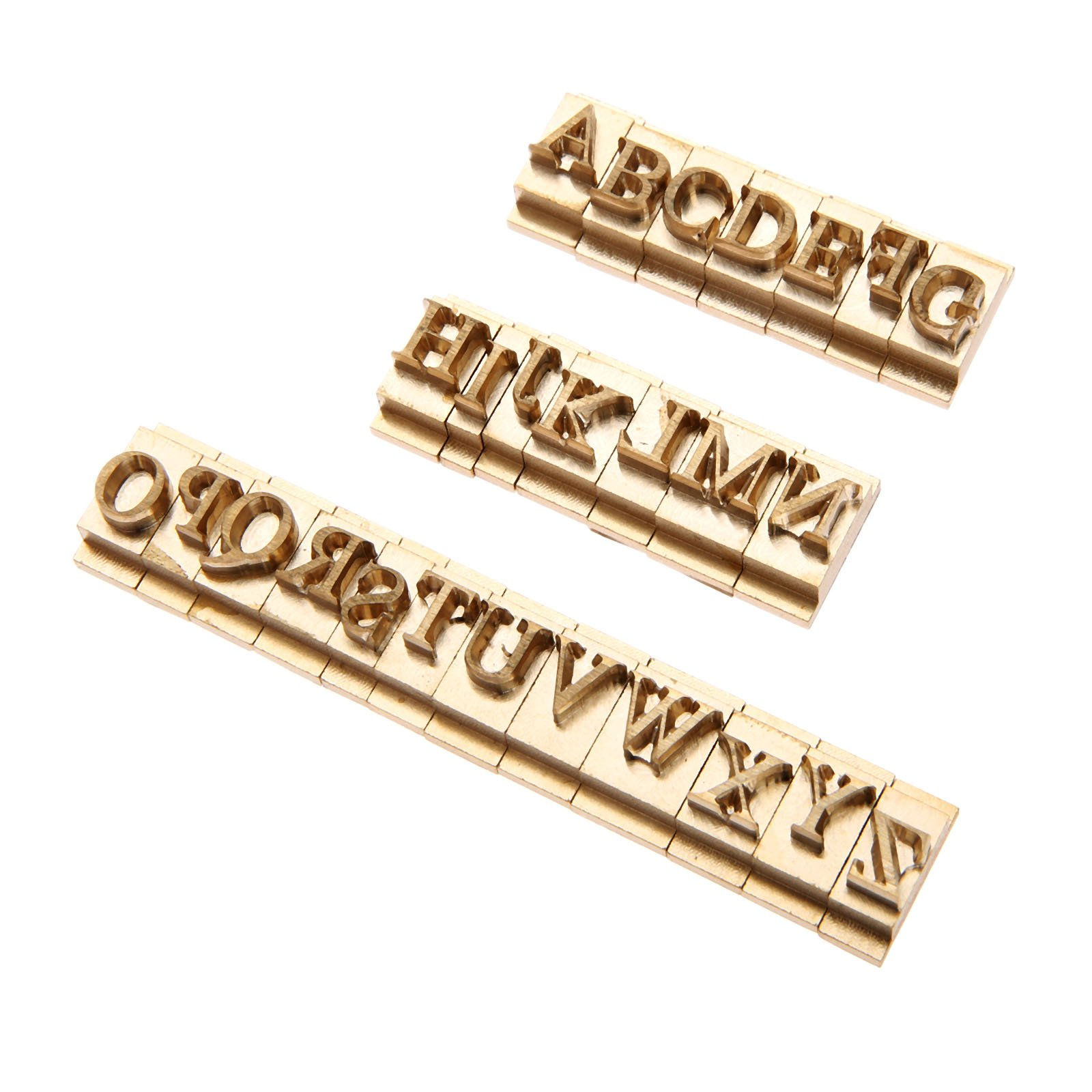 26pcs/Set Brass Alphabet Letter Font Stamp Mold Leather Craft Seal Tool A-Z Captal Letters by Hicello