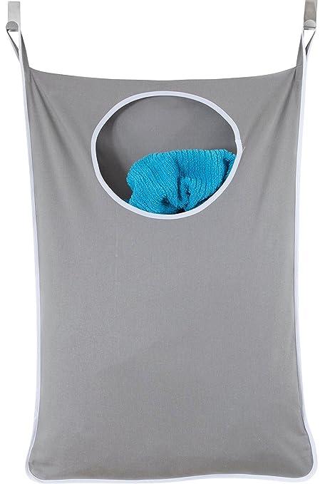 Cesta de lavandería para ropa sucia, bolsa de almacenamiento sobre la puerta para colgar ropa