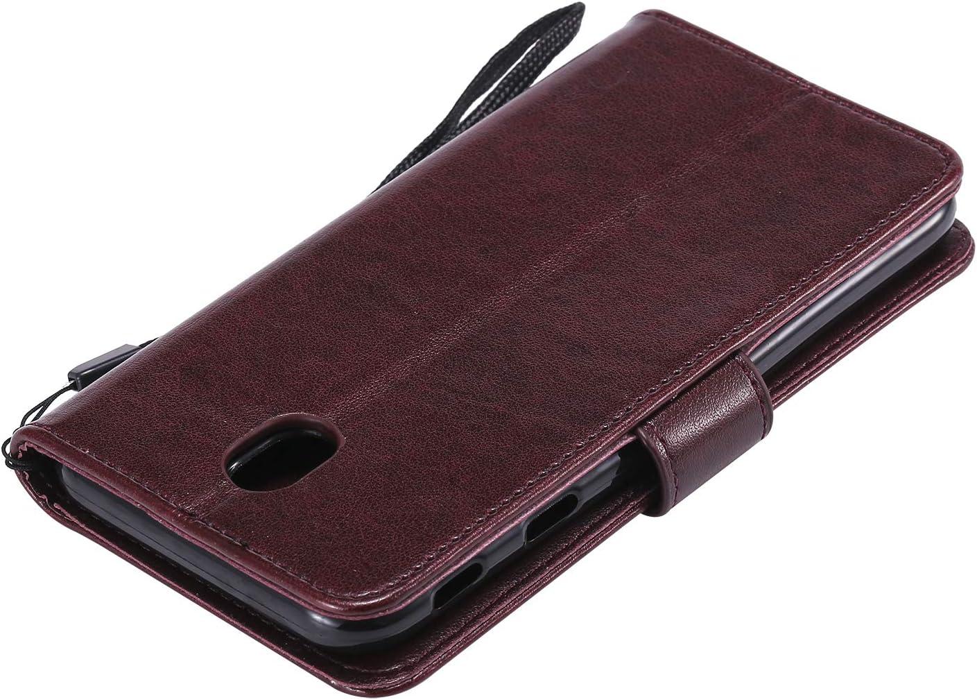 LOHHA130231 Rosso Lomogo Cover Galaxy J5 2017 Portafoglio Custodia a Libro Pelle Porta Carte Chiusura Magnetica Antiurto Flip Wallet Case per Samsung Galaxy J5 2017//J530F