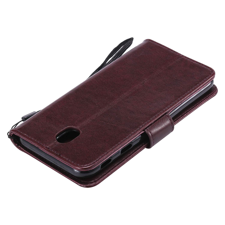 LOHHA130228 Oro Custodia a Libro Pelle Porta Carte Chiusura Magnetica Antiurto Flip Wallet Case per Samsung Galaxy J5 2017//J530F Lomogo Cover Galaxy J5 2017 Portafoglio
