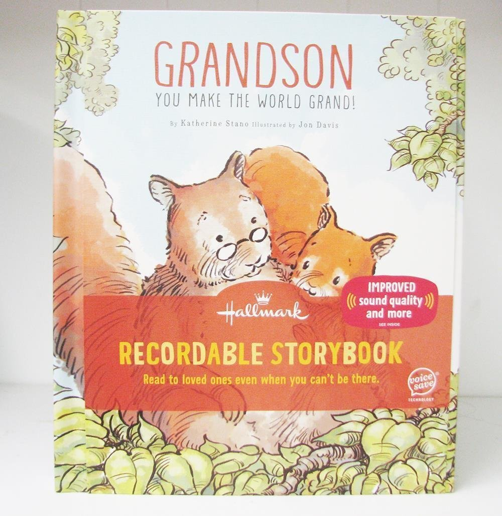 Hallmark KOB8143 Grandson You Make the World Grand Recordable Storybook Books Recordable