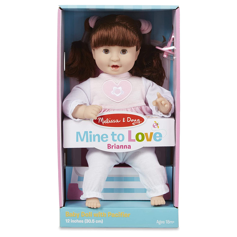 Melissa /& Doug standard  Mine to Love Brianna 12-Inch Soft Body Baby Doll wit...