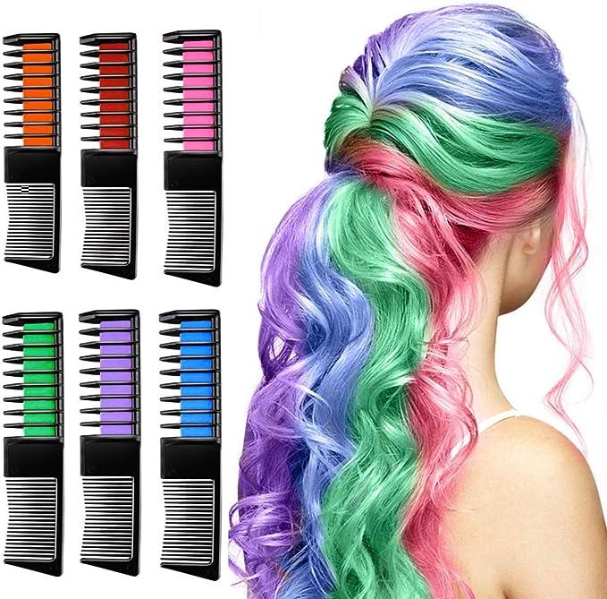 Linlook - Tiza para el pelo para niños - Peine temporal color ...