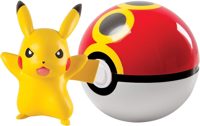 TOMY T18830 Pokemon Clip N Carry Pikachu and Repeat - Bola de Poke Ball: Amazon.es: Juguetes y juegos