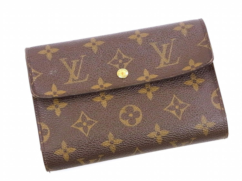 [ルイヴィトン] LOUIS VUITTON 二つ折り財布 モノグラム M61202 PVC×レザー X9001 中古 B019IK67KO