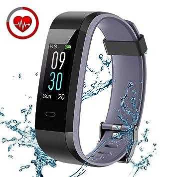 8ad884c8b9900 CHEREEKI Montre Connectée, Fitness Tracker Smartwatch Bracelet Connecté  Podometre Tracker d'activité Etanche IP68 pour Femme Homme