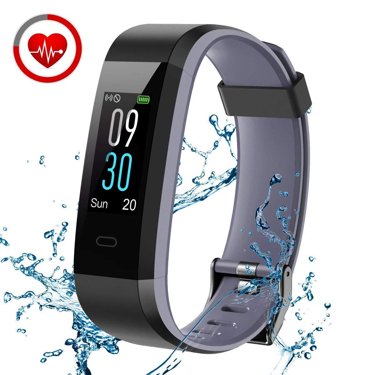 CHEREEKI Fitness Tracker with Heart Rate Monitor, IP68 Waterproof Activity Tracker