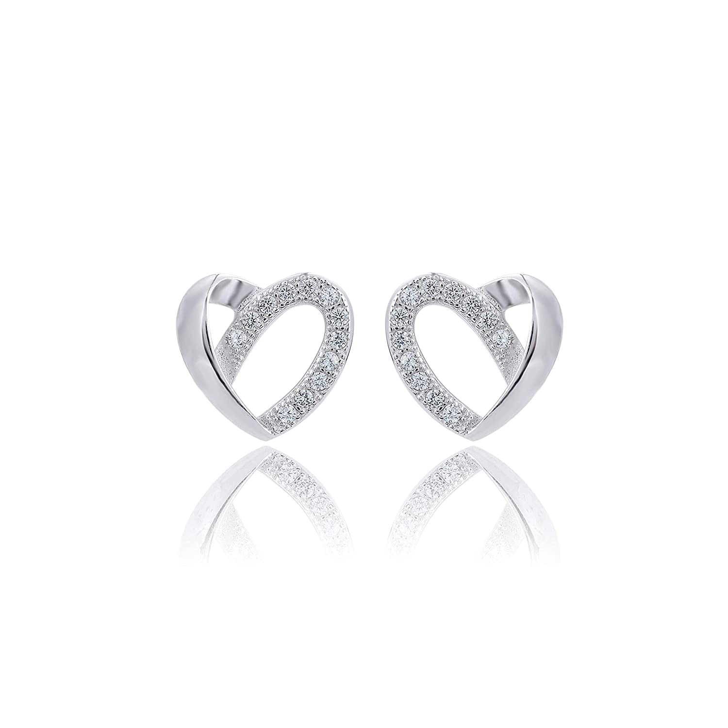 Amazon Com Fhx Simple Love 925 Sterling Silver With Diamond
