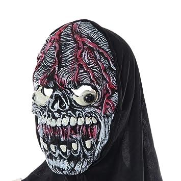 lucoo® Fiesta de Halloween máscara Cosplay máscara calabaza espantapájaros Terror máscara máscara de cabeza