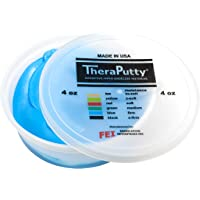 CanDo TheraPutty - Masilla para ejercicio, azul (Blue: Firm), 4 Ounce (Pack of 1)