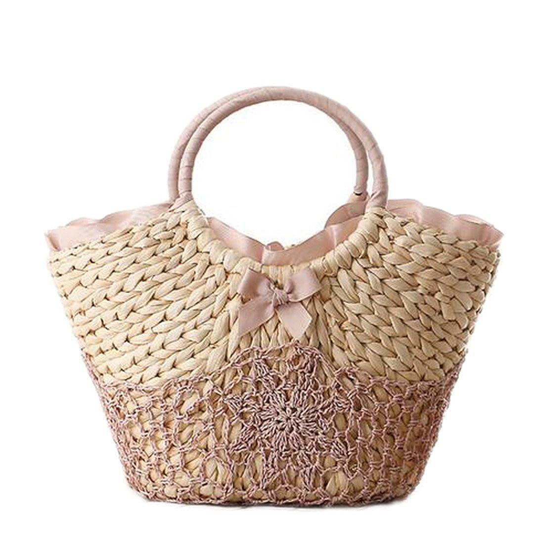 Amazon.com  Beach Bag Big Totes Bag Woven Women Travel Handbags Crochet  Flower Hand Bags  Clothing