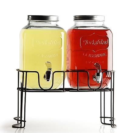 Circleware Yorkshire doble 3.78L dispensadores de bebidas con Metal accesorio de
