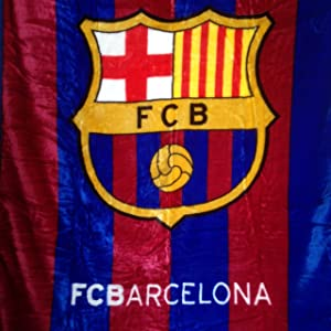 "FCB Barcelona Luxury Plush Blanket Twin 60""X80"""