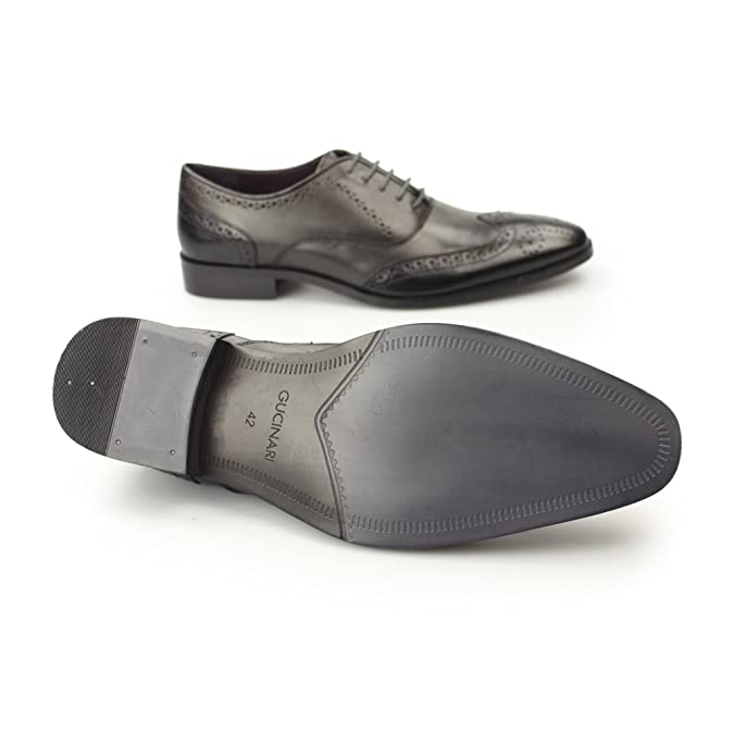 12b49841d81b2 Gucinari Jonas Mens Leather Two Tone Oxford Brogues Black/Grey 40:  Amazon.co.uk: Shoes & Bags