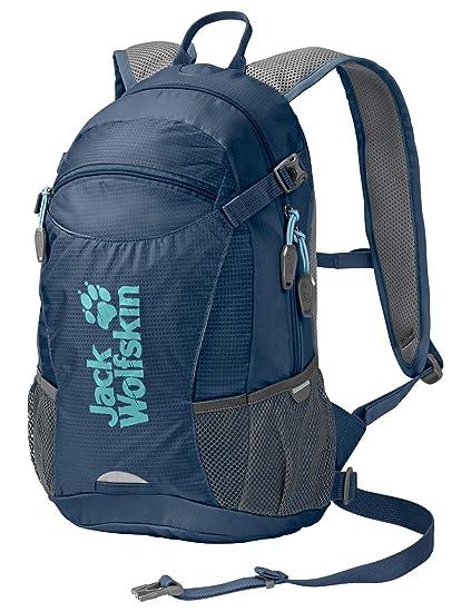 d6305f2906d Jack Wolfskin Velocity 12L Lightweight Biking Backpack with Rain Cover and  Helmet Lashing, Dark Sky