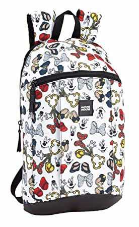 Safta Mini Mochila Minnie Mouse Icons Oficial Uso Diario 220x100x390mm: Amazon.es: Equipaje