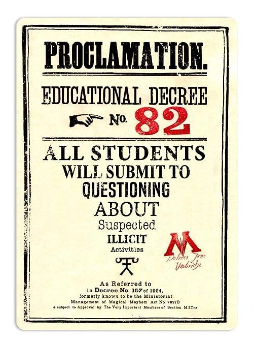 BORJOR Proclamation Educational Decree NO.82 -Cartel de ...