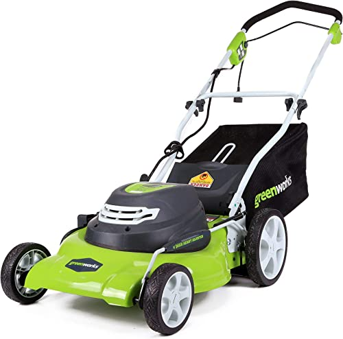 Greenworks 20-Inch 12 Amp Corded Lawn Mower 25022 Renewed