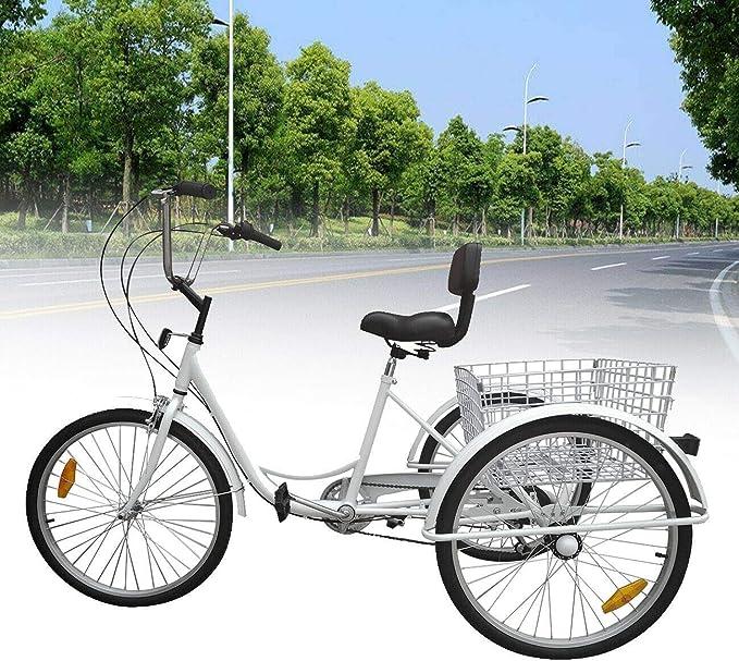 Best Adult Tricycle: Ridgeyard 6 Speed Adult Tricycle