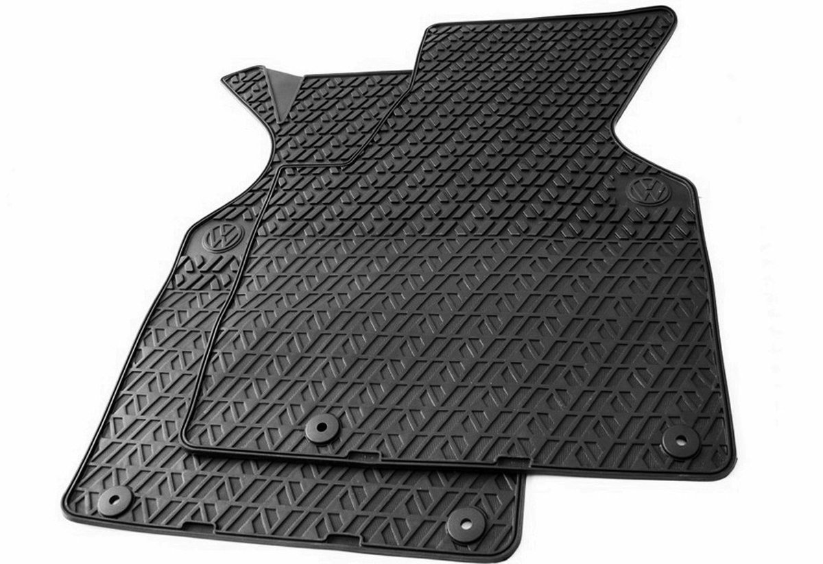 kfzpremiumteile24 alfombrillas de pie de goma 2 piezas en calidad original negro