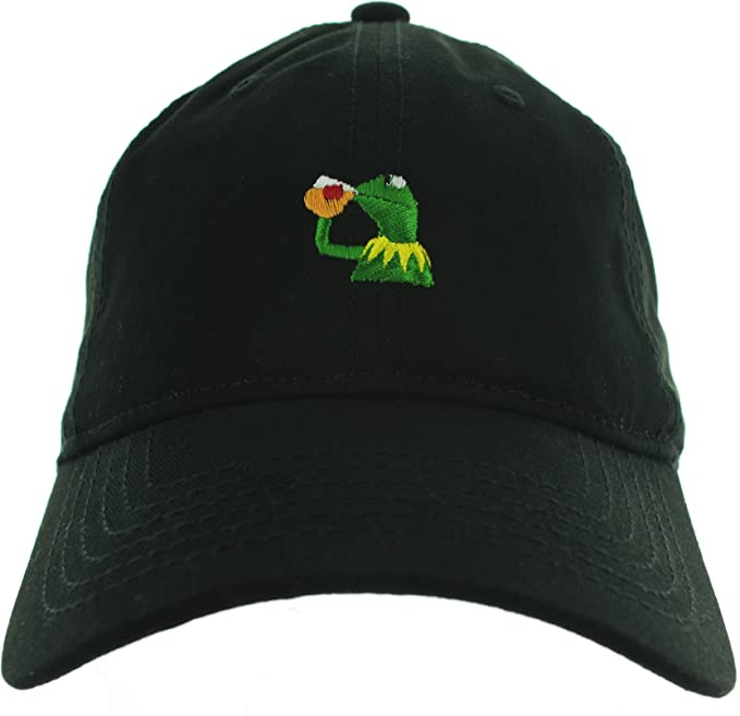 e07aeee9419 Kermit the frog hat Sipping Tea Black at Amazon Women s Clothing store