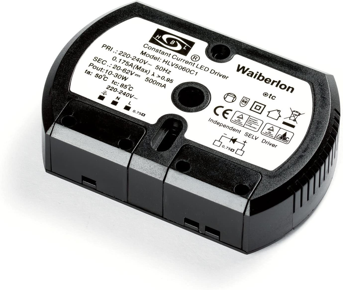 Waiberlon hBL transformateur lED driver current hLV5060C1 10 62 v 500 mA 30W 20