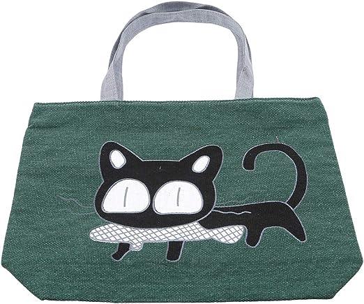 GREY CAT NEW TOTE BAG Grey 100/% cotton
