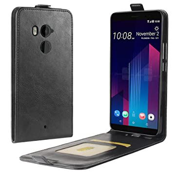 Funda® Capirotazo Billetera Funda para HTC U11 Plus (Negro ...