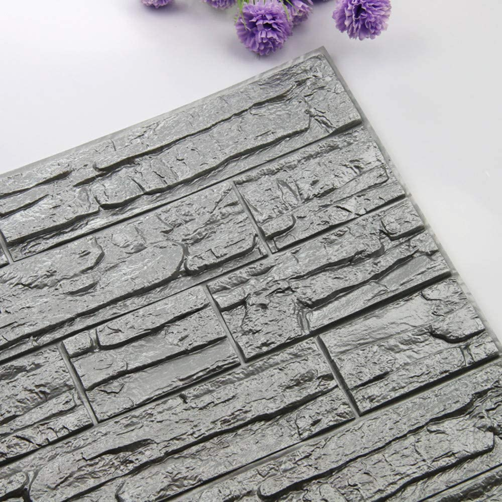 JiaMeng Pegatinas de Pared DIY 3D ladrillo PE Espuma ...